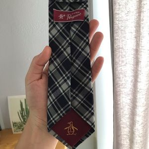Penguin Plaid Neck Tie